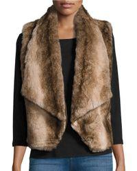 BB Dakota | Brown Open-front Faux Fur Vest | Lyst