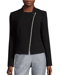 Karl Lagerfeld   Black Asymmetrical Blazer   Lyst