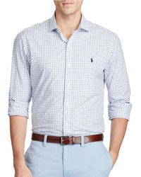 Polo Ralph Lauren | Blue Checked Poplin Estate Standard-fit Shirt for Men | Lyst