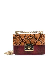 Sam Edelman | Orange Sissy Mini Faux Printed Leather Shoulder Bag | Lyst