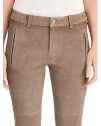 Lauren by Ralph Lauren | Multicolor Suede Skinny Pants | Lyst