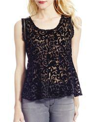 Jessica Simpson   Black Regine Burnout Floral Top   Lyst