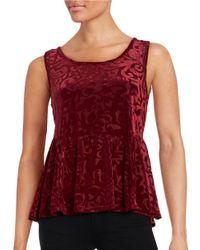 Jessica Simpson | Red Regine Burnout Floral Top | Lyst