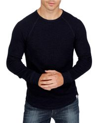 Lucky Brand Blue Thermal Crewneck Tee for men