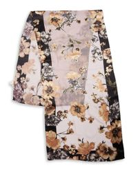 Collection 18 Multicolor Floral Silk-blend Scarf