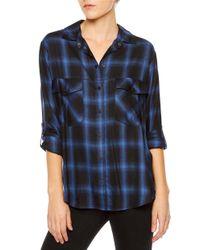 Sanctuary   Blue Plaid Boyfriend Shirt   Lyst