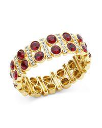 Anne Klein | Metallic Stretch Cuff Bracelet | Lyst
