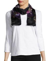 Lauren by Ralph Lauren | Black Gale Floral Silk Scarf | Lyst