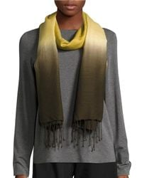 Eileen Fisher Multicolor Wool & Silk Ombre Scarf