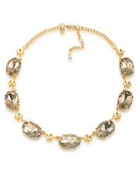 Carolee | Metallic Gold-tone Brown Stone Collar Necklace | Lyst