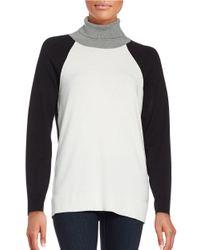 Calvin Klein | White Colorblocked Turtleneck | Lyst