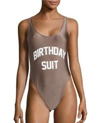 Private Party | Brown Birthday Suit One Piece Swimsuit | Lyst