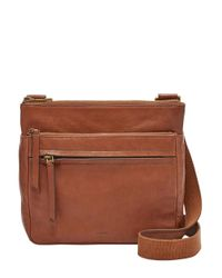 Fossil | Brown Corey Leather Crossbody Bag | Lyst