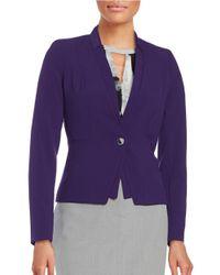 Calvin Klein | Purple Petite One-button Blazer | Lyst