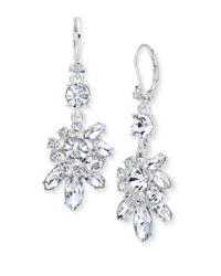 Marchesa   Metallic Cluster Drop Earrings   Lyst