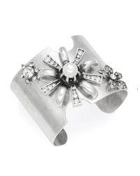 Gerard Yosca | Metallic Faux Pearl Accented Starburst Cuff Bracelet | Lyst