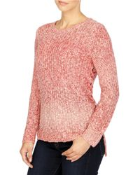 Lucky Brand | Red Omber Lace-up Pullover | Lyst