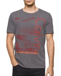 Calvin Klein Jeans   Gray Lava Crewneck Cotton Tee for Men   Lyst