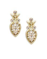 House of Harlow 1960 | Metallic Pave Geometric Stud Earrings | Lyst