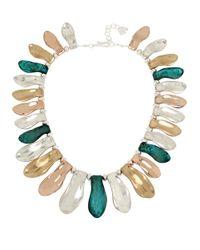 Robert Lee Morris | Green Femme Petal Patina Collar Necklace | Lyst