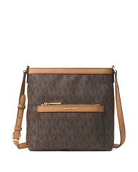 MICHAEL Michael Kors | Brown Morgan Signature Coated Crossbody Bag | Lyst