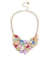 Betsey Johnson | Multicolor Stone Statement Necklace | Lyst