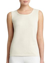Lafayette 148 New York | Natural Solid Sleeveless Tank | Lyst