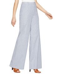 BCBGMAXAZRIA | Blue Ethen Wide-leg Pants | Lyst