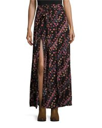 Free People | Black Remember Me Mock-wrap Maxi Skirt | Lyst