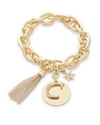 R.j. Graziano - Metallic C Initial Chain-link Charm Bracelet - Lyst