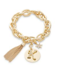 R.j. Graziano | Metallic K Initial Chain-link Charm Bracelet | Lyst