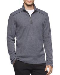 Calvin Klein | Gray Jacquard Quarter-zip Pullover for Men | Lyst