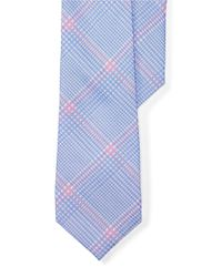 Lauren by Ralph Lauren | Blue Plaid Silk-linen Tie for Men | Lyst