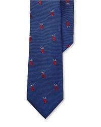 Lauren by Ralph Lauren | Blue Golf Flag Silk Tie for Men | Lyst