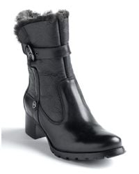 Blondo | Black Fantasia Shearling-lined Buckle Boots | Lyst