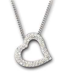 Swarovski | Metallic Mozart Crystal Heart Pendant Necklace | Lyst