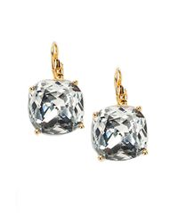 kate spade new york | Metallic Faceted Square Drop Earrings/clear | Lyst