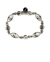 Givenchy - Metallic Crystallized Flex Bracelet - Lyst