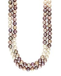 Effy | Metallic Multicolor Pearl Necklace | Lyst