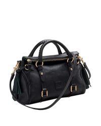 Dooney & Bourke | Black Florentine Mini Leather Satchel | Lyst