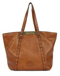 Patricia Nash | Brown Sumrose Leather Tote Bag | Lyst