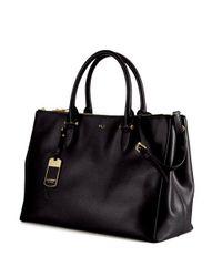 671f89a0df6 Lyst - Lauren By Ralph Lauren Newbury Leather Double Zip Satchel in ...
