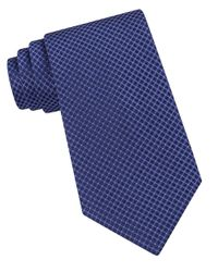 Calvin Klein | Blue Classic Fit Micro Dot Textured Silk Tie for Men | Lyst