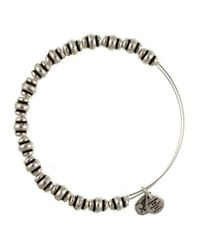 ALEX AND ANI | Metallic Nile Beaded Bangle Bracelet- Silver | Lyst