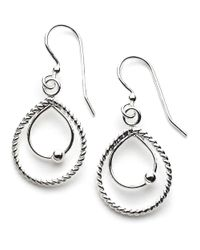Lord & Taylor | Metallic Sterling Silver Double Teardrop Drop Earrings | Lyst