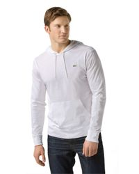 Lacoste | White Cotton Hooded Tee for Men | Lyst