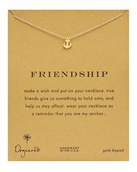 Dogeared | Metallic Friendship Anchor Pendant Necklace | Lyst