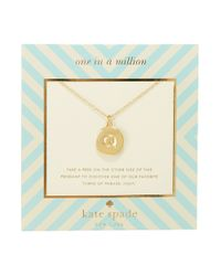 kate spade new york - Metallic One In A Million Letter Q Pendant Necklace - Lyst