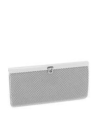 La Regale   Metallic Beaded Mesh Wallet Clutch   Lyst