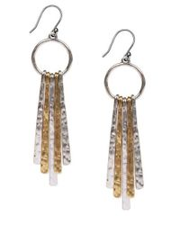 Lucky Brand - Metallic Two-tone Paddle Drop Earrings - Lyst